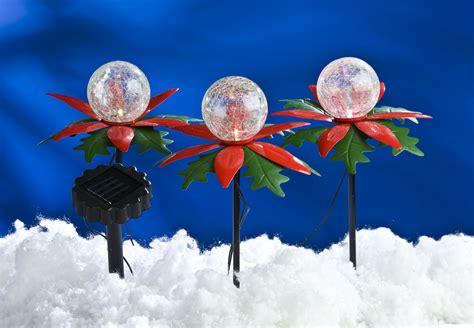Weihnachtsdeko Garten Solar by Led Solar Weihnachtsterne 3er Mit Farbwechsel