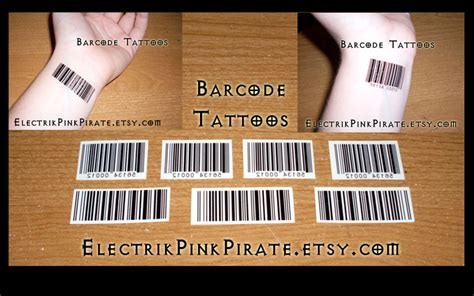barcode tattoo cost barcode temporary tattoos by electrikpinkpirate on deviantart