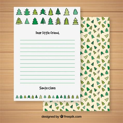 Christmas Letter Template With A Christmas Tree Pattern Vector Free Download Tree Letter Template