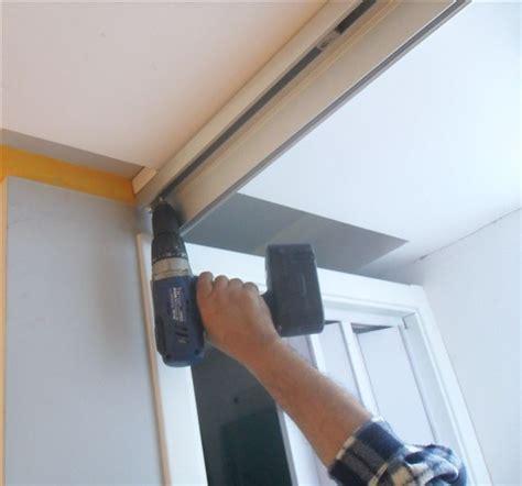 binario per ante scorrevoli a soffitto doppia ante per cabina armadio completa di binario 90