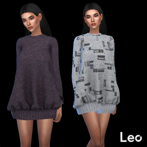 Sweater Discovery Leo Cloth oversized sweater at leo sims 187 sims 4 updates