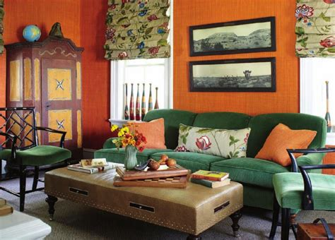 orange and green bedroom ideas green and orange interiors by color 3 interior decorating ideas