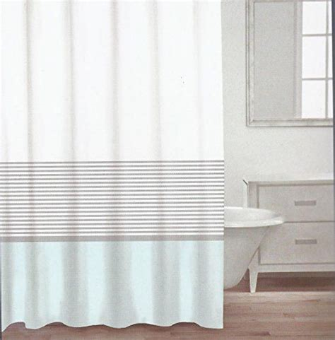 silver and white striped curtains caro home fabric shower curtain teal white and silver