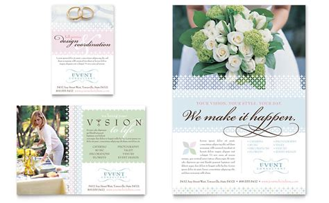 wedding brochure templates wedding event planning flyer ad template word