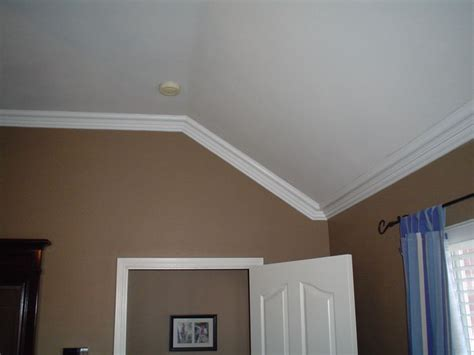 slanted ceiling bedroom how to cut crown molding for sloped ceiling inspiration