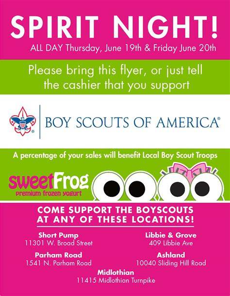 Sweet Frog Fundraiser Flyer Template