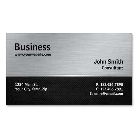 aluminum business cards templates 2191 best construction business cards images on