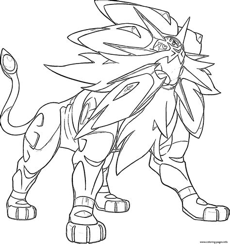 legendary coloring pages solgaleo legendary generation 7 coloring pages
