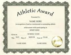Athletic Certificate Templates by Free Templates For Middle School Award Templates Geographics