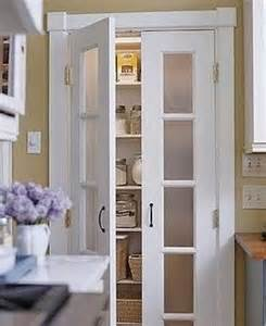 replace bi fold doors with painted pantry doors or