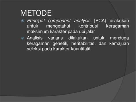 Metode Aborsi Jawa Barat Keragaman Morfologi Komponen Hasil Dan Hasil Ubi Jalar