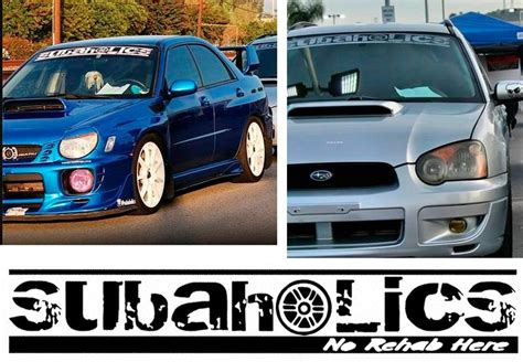 subaru windshield decal product subaholics front windshield decal car