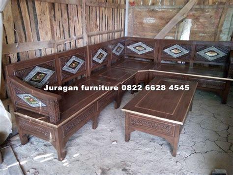 Kursi Sudut Kayu Mahoni harga kursi tamu sudut kayu minimalis juragan furniture jepara juragan furniture jepara