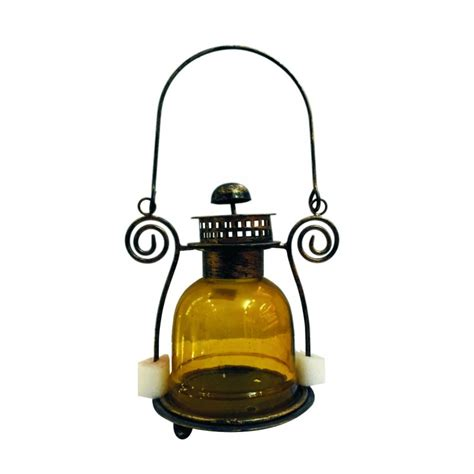 brass glass tea light lantern sattva store