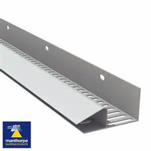 Manthorpe continuous soffit vent 10 000mm2 2 44m white roofing