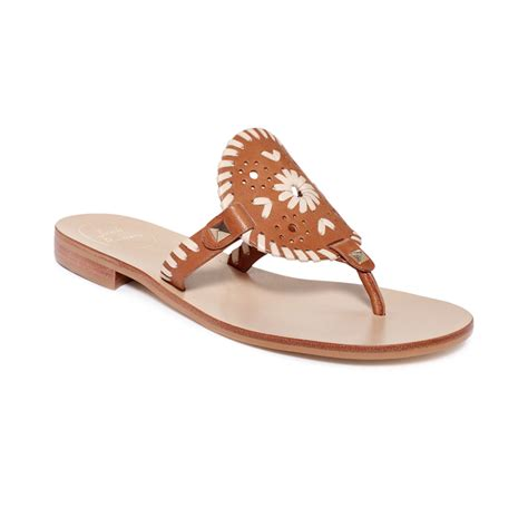 rogers shoes lyst rogers georgica flat sandals in white