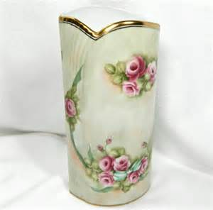 gorgeous burton and burton ceramic or porcelain vase floral