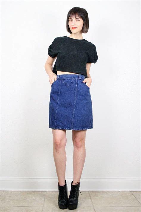 vintage 80s skirt denim skirt denim mini skirt high
