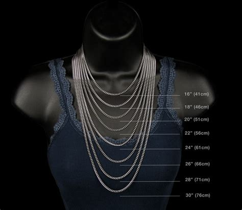 gold mens gold chain sizes