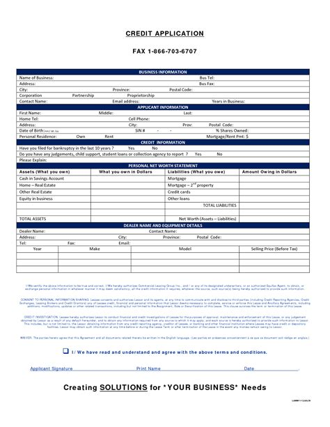 Generic Credit Application Form Template Best Photos Of Generic Credit Application Form Sle Credit Application Form Generic