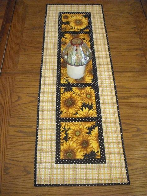 7 Gorgeous Table Runners by Beautiful Sunflower Quilted Table Runner Sunflower