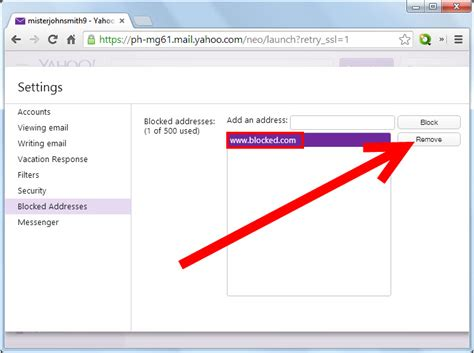 yahoo email block how to block an email address on yahoo 4 easy steps