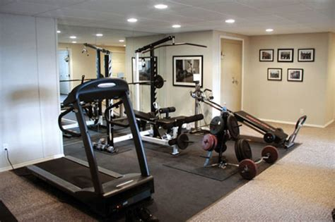 at home gym ideas home gyms this basement home gym has a treadm
