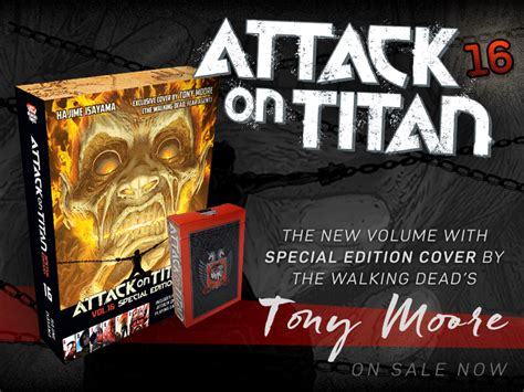 attack on titan volumes at last attack on titan 16 on sale now special edition