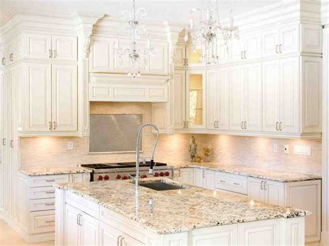 Granite Colors For White Cabinets Home Furniture Design White Kitchen Cabinet Colors