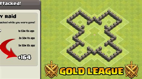coc edit layout th4 clash of clans town hall 4 defense coc th4 best trophy