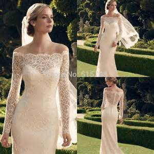 garden wedding dresses aliexpress buy beautiful lace wedding dresses the shoulder sleeves sweep