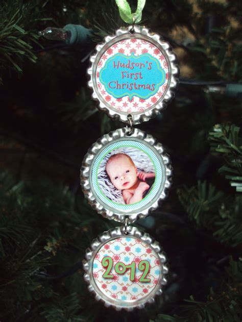 baby s first christmas ornament 2014 bottlecap ornament