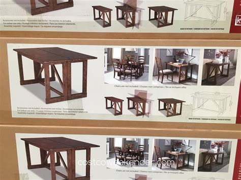 costco tables cheap bar height dining table black