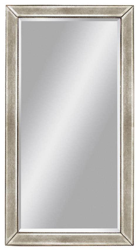 beaded floor mirror beaded edge rectangle floor mirror traditional mirrors