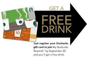 Starbucks Gift Card Free Drink - free drink starbucks