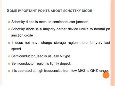 types of schottky diodes schottky diode