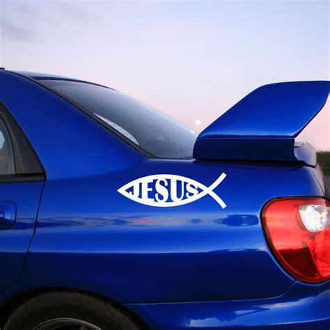 Auto Sticker Jesus by Stickers Avec Un Poisson De J 233 Sus