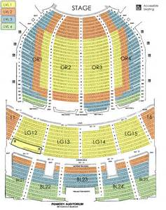 peabody seating chart peabody opera house seating charts