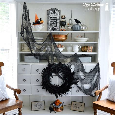 spooky home decor spooky chic halloween home decorating