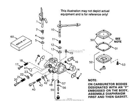 tecumseh engine carburetor diagram tecumseh ca 631400 parts diagram for carburetor