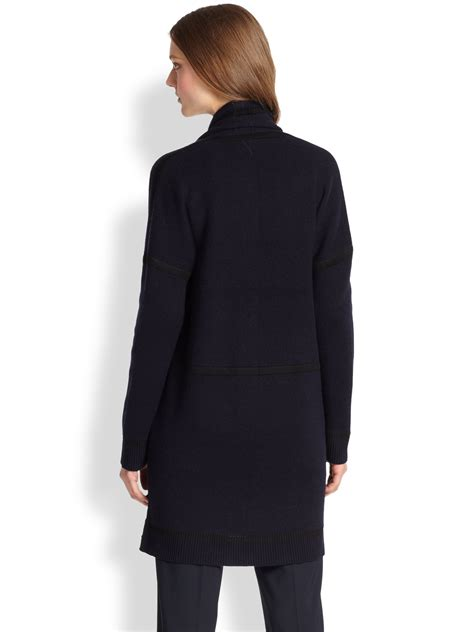 cashmere draped cardigan lyst vince wool cashmere draped cardigan in blue