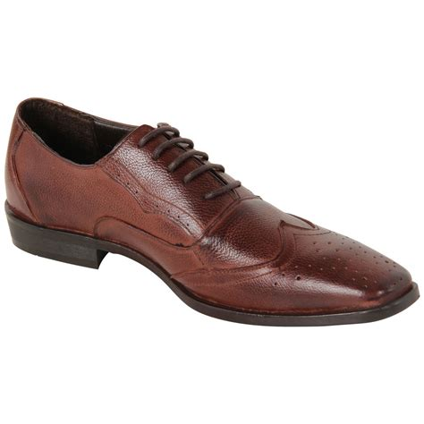 mens lace up pointy formal real leather office work brogue