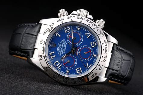 Rolex Daytona Blue Ultimate Clone 11 replica rolex daytona stainless steel blue black leather high quality replica