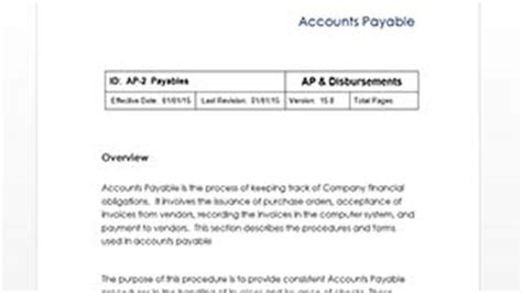 D3 Method Project Templates Copedia Accounts Payable Policy Template
