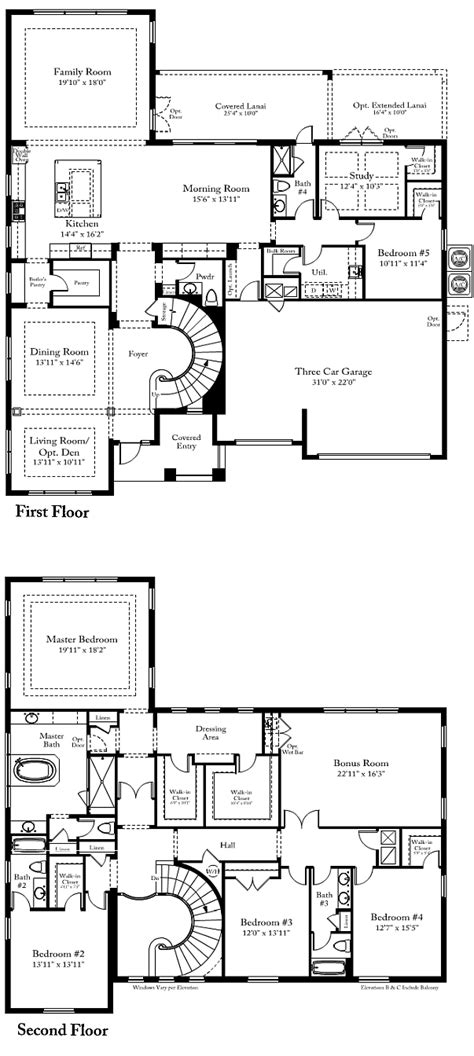 standard pacific home floor plans standard pacific homes floor plans