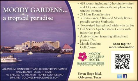 Moody Gardens Discounts by Moody Gardens Hotel Spa And Convention Center Galveston
