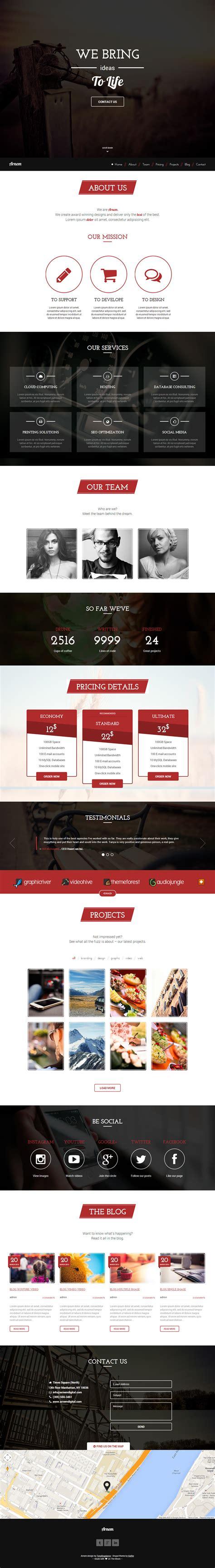 drupal themes responsive parallax free arnem premium responsive retina one page parallax drupal