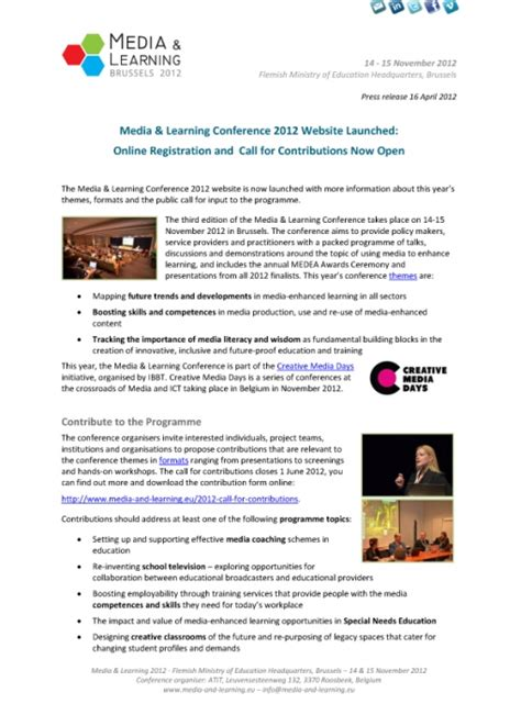 conference themes exles press release announces media learning conference themes