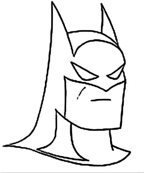 batman head coloring page batman head easy coloring pages