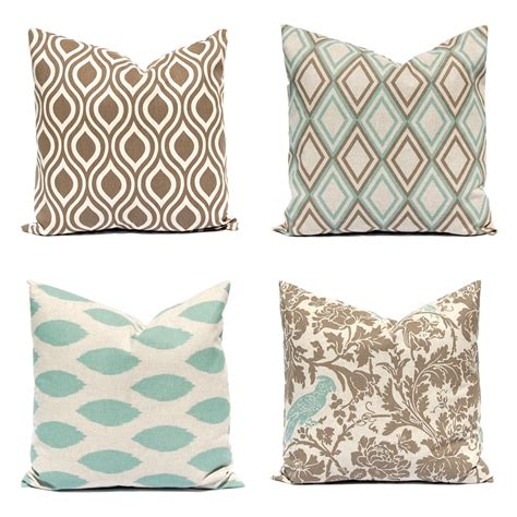 Sofa Pillow Covers Pillow Covers Sofa Pillows Seafoam Green Pillows